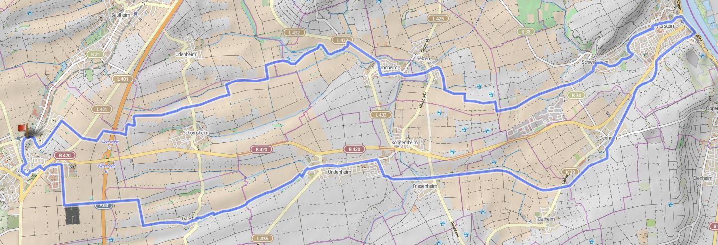 Radtour nach Nierstein